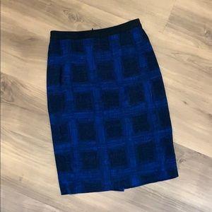 Hugo Boss Plaid Pencil Skirt